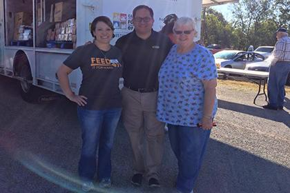 Representative Larry Gonzales at Mobile Pantry
